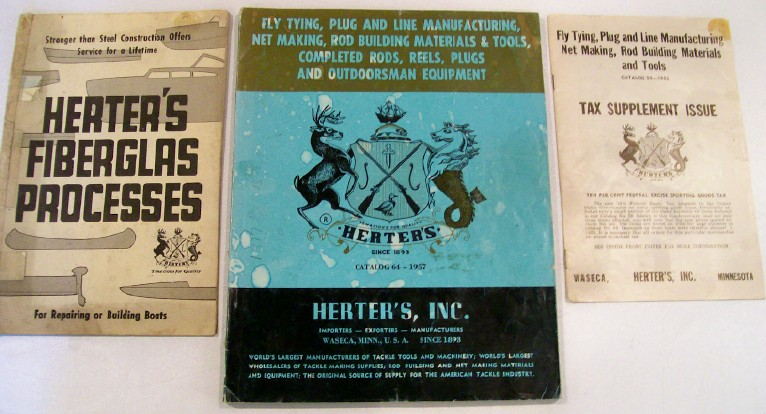 Lot Of 1950s Herter's Fishing Catalogs